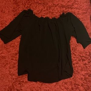 Tops - PLUS SIZE OFF THE SHOULDER TUNIC